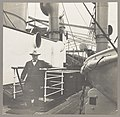 Col. Theodore Roosevelt stepping onto the deck of a ship LCCN2010645465.jpg