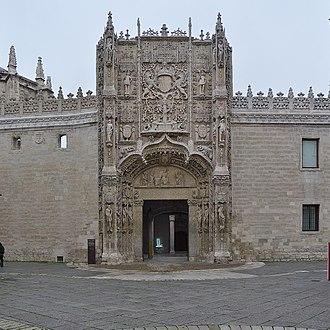 Museo Nacional de Escultura, Valladolid - View of the main facade (Colegio de San Gregorio)