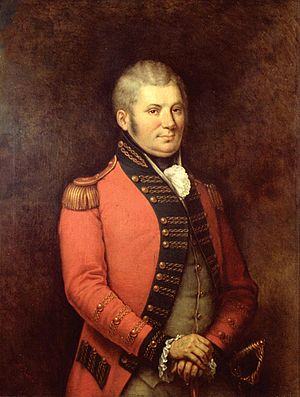 Battle of Crooked Billet - John Graves Simcoe, commander of the Queen's Rangers.