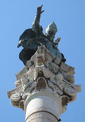 Orontius of Lecce - The Colonna di Sant'Oronzo, Lecce (Column of St. Orontius), donated by Brindisi to Lecce.