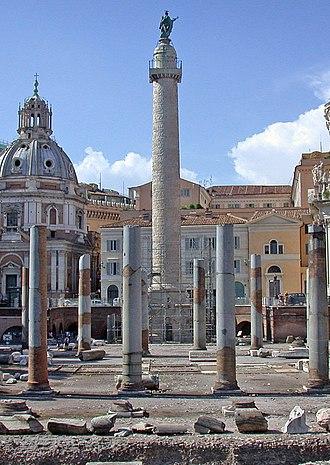 Victory column - Trajan's Column in Trajan's Forum