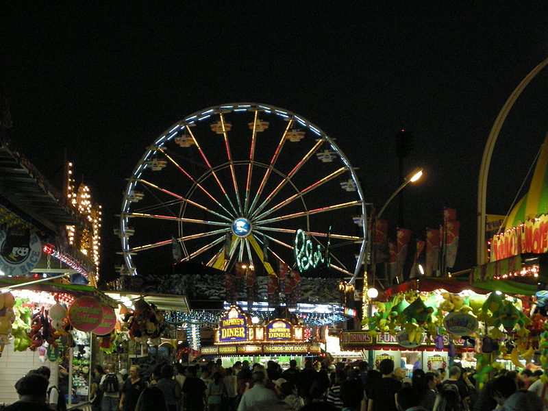 File:Colourful ferris wheel at night at the CNE in Toronto.jpg