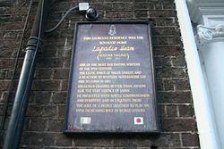 Photo of Lafcadio Hearn maroon plaque