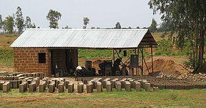 Nasarawa State - Concrete block factory in Nasarawa State.