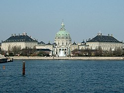 Amalienborg, a Baroque quarter in the center of Copenhagen