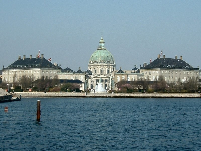 Copenhagen amalienborg seen from opera house