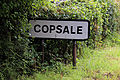 Copsale road sign, Copsale, Nuthurst, West Sussex, England.JPG