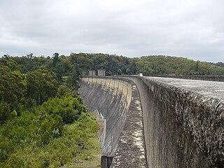 Cordeaux Dam Dam in Cordeaux River, Cordeaux, New South Wales