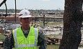 Corps' Col. Patton tours Joplin High School tornado damage (5882309694).jpg