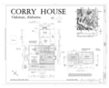 Corry Homestead, Corry House, State Route 69, 10 miles South of Jasper (244 School Street), Oakman, Walker County, AL HABS ALA,64-OAK,A- (sheet 1 of 2).png