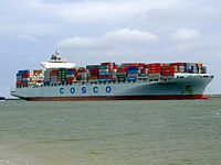 Cosco Long Beach p2 approaching Port of Rotterdam, Holland 14-Jul-2007.jpg