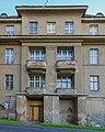 Coswig Am Spitzberg 18;20 Schloss Coswig (Sachgesamtheit) Sanatoriumsgebäude Südfassade VI.jpg