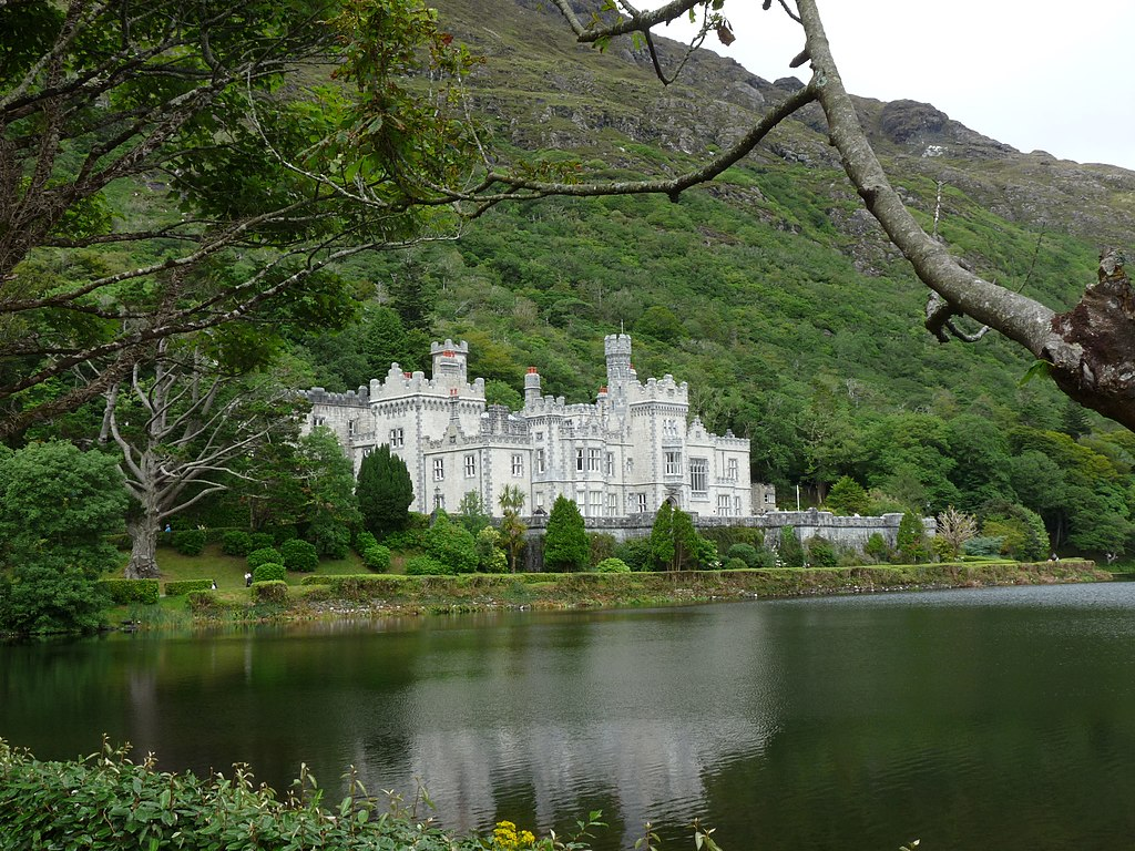 View of Kylemore Abbey from afar