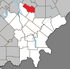 Courcelles Quebec location diagram.png