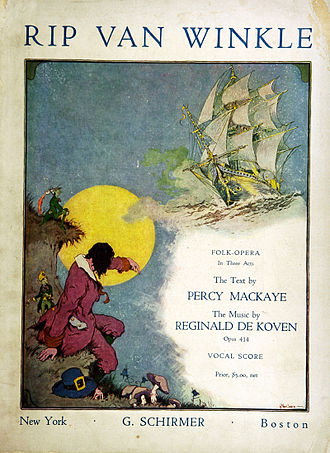 Reginald De Koven - Cover of Rip Van Winkle, 1919