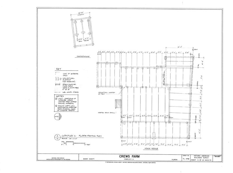File:Crews Farm, Macclenny, Baker County, FL HABS FL-398 (sheet 5 of 24).png