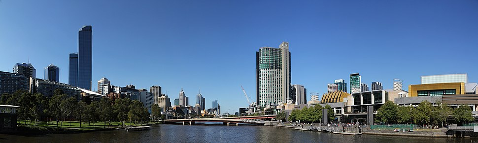 Crown Casino complex at South Bank of the Yarra River
