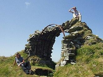 Machars - Image: Cruggleton Castle remains