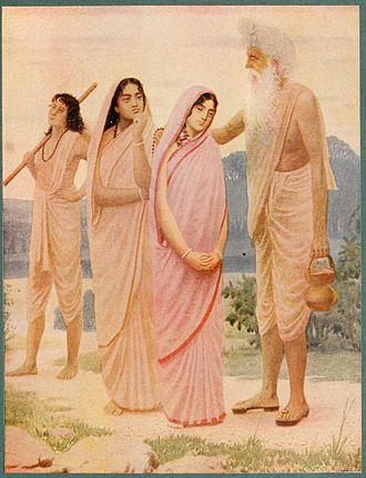 Shakuntala (play) - Image: Crying of Shakuntala