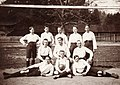 Császári és Királyi Katonai Főreáliskola (ma Martin Kaszárnya), futballcsapat a sportpályán. Fortepan 75960.jpg