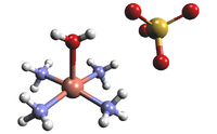 Ball-and-stick model of the Tetraamminecopper(II) cation