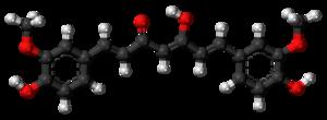 Curcumin - Image: Curcumin enol 3D balls