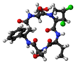 Cyclochlorotine - Image: Cyclochlorotine 3D ball