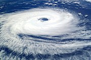 Cyclone Catarina from the ISS on March 26 2004