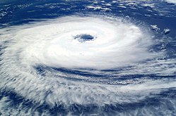Cyclone Catarina, a rare South Atlantic tropical cyclone viewed from the International Space Station on March 26, 2004.