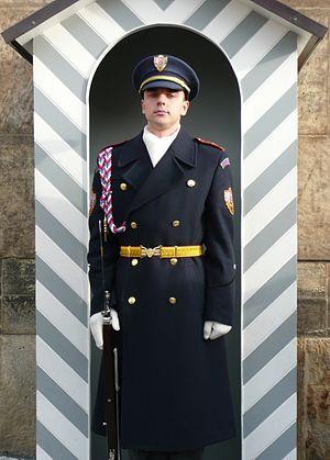 Czech Guard soldier