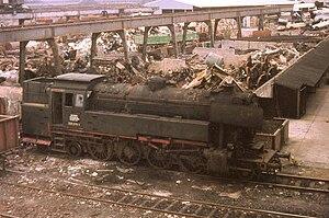 DB Class 65 - DB Neubaulok 065 005-1 ready for scrapping, Frankfurt-am-Main, 1970