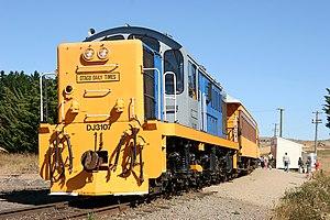 Dunedin Railways - DJ class locomotive in service with Dunedin Railways at Pukerangi.