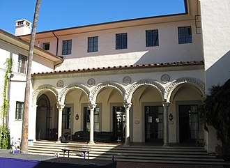 House System at the California Institute of Technology - Dabney courtyard in 2008.
