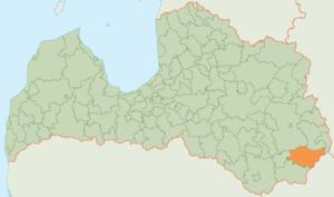 Dagda Municipality - Image: Dagdas novads karte