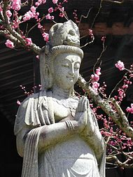 Kannon statue in DaieninMt. Koya, Japan