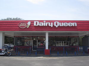 Dairy Queen - A Dairy Queen outlet in Burnet in the Texas Hill Country, using the chain's previous logo