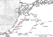 The line shown on a 1901 map