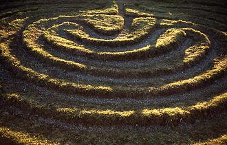 Turf maze - Image: Dalby City of Troy turf maze