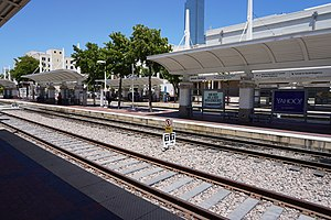 Dallas Union Station - Looking across tracks and platforms