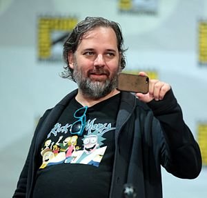 Dan Harmon - Harmon at the San Diego Comic-Con in 2014