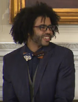 Daveed Diggs, class of 2004, Grammy and Tony Award-winning rapper and actor, known for playing the Marquis de Lafayette/Thomas Jefferson on musical Hamilton