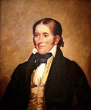Davy Crockett - Davy Crockett portrait in 1834