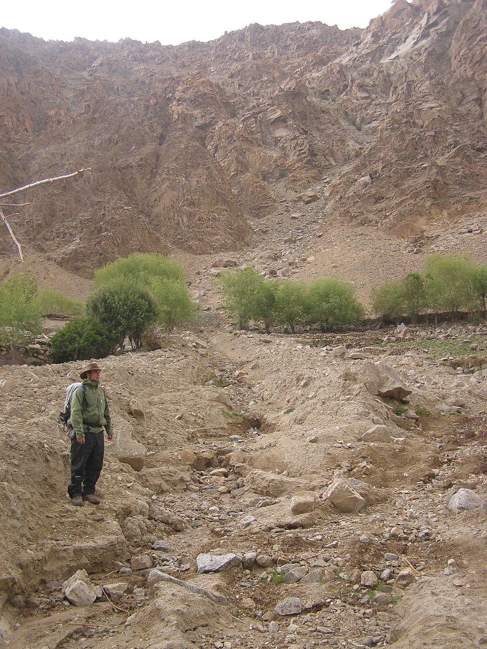 Debris flow deposit, Ladakh, NW Indian Himalaya (2)