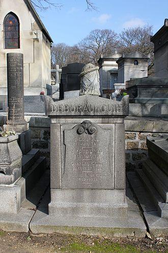 Jean-Gaspard Deburau - Tomb of J.-G. Deburau in Père Lachaise Cemetery, Paris