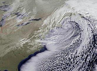 December 2010 North American blizzard - Image: December 2010 Nor'easter on December 27, 2010
