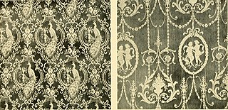 Nottingham lace curtain machine Lace-making machine invented in 1846