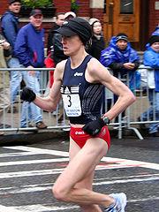 Deena Kastor at the 2007 Boston Marathon