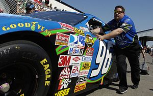 Hall of Fame Racing - The 96 car at Pocono in 2007.