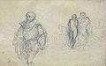 Dehodencq A. - Pencil - Personnage à la fraise et groupe - 28x19cm.jpg