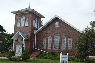 Canaan Township, Morrow County, Ohio - Methodist church at Denmark